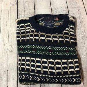 Old Glory Sweaters - Old Glory Cotton Men's Sweater XL Vintage